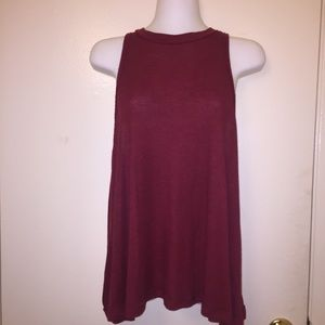 Free People Red Crimson Tank Size M